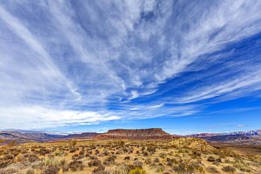 United States, Utah, Springdale, Distant mesa Zion National Park