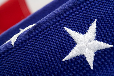 Closeup of star on American flag