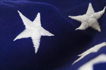 Closeup of stars on American flag