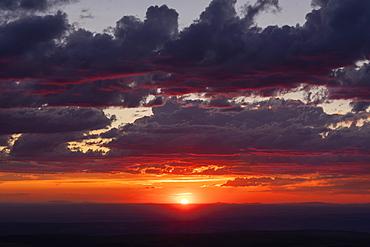 United States, Oregon, Dramatic sky at sunset