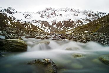 Martial mountain, glacial melt, Tierra del Fuego, Argentina