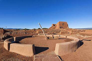 USA, New Mexico, Pecos, Spanish Mission Church ruins at Pecos National Historical Park