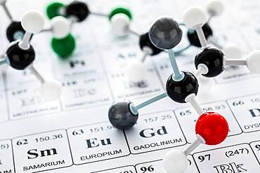 Molecular model on periodic table - 1178-31743