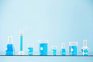 Blue liquid in laboratory glass - 1178-31763