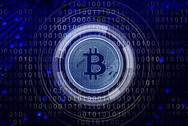 Bitcoin and binary code, cgi