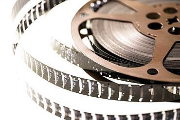 Studio shot of 8 mm film reel