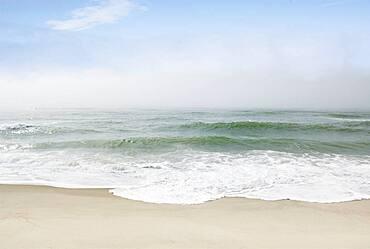 Massachusetts, Nantucket Island, Calm beach and ocean wave