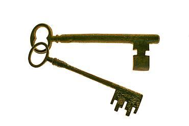 Studio shot of antique keys
