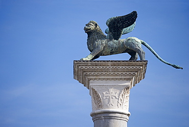 Lion of St Mark's Square/ Piazza San Marco Venice Italy