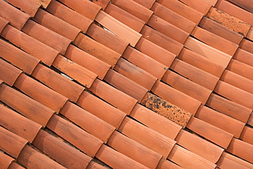 Terracotta roof tiles Italy