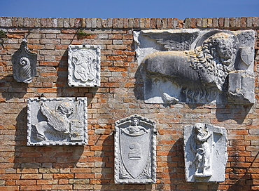 Archeological sculpture finds Torcello Italy