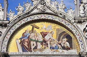 The Ascension Byzantine mosaic Saint Mark's Basilica Venice Italy