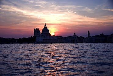 Church of Santa Maria Della Salute and Punta della Dogana Venice Italy