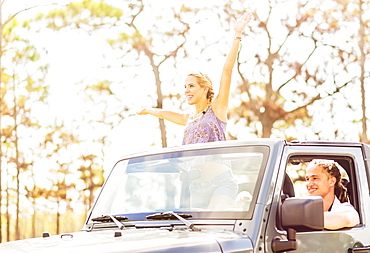 Couple in car, Tequesta, Florida