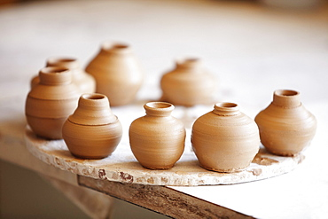 Small vases left to dry