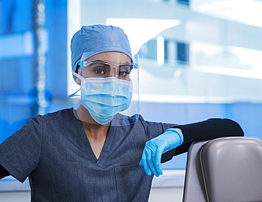 Female doctor in operating theater