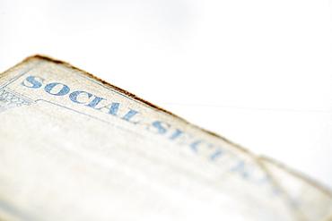 Close-up of social security card