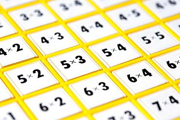 Close-up of multiplication machine