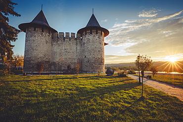 Moldova, Soroca, Soroca Fort at sunset