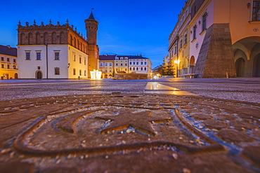 Poland, Lesser Poland, Tarnow, Pavement on old town square