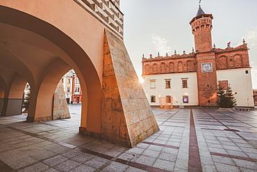 Poland, Lesser Poland, Tarnow, Arcades in old town area