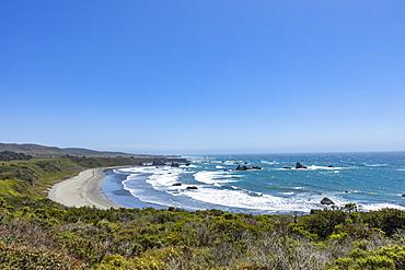 Usa, California, Big Sur, Pacific Ocean coastline with sandy beach