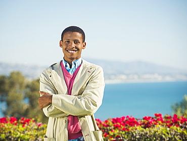 Portrait of smiling man, Dana Point, California