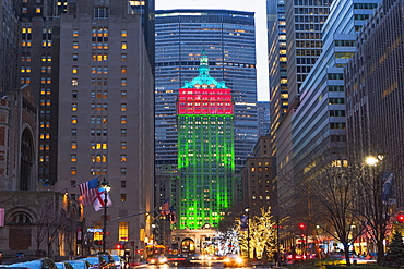 Christmas decorations on Manhattan, New York City, USA