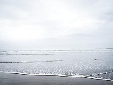 Sandy beach at morning, Rockaway Beach, Oregon