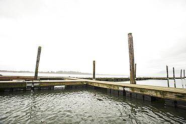 Wooden jetty, Rockaway Beach, Oregon