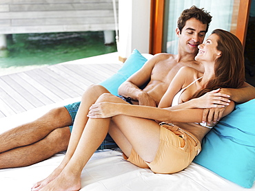 Portrait of couple relaxing