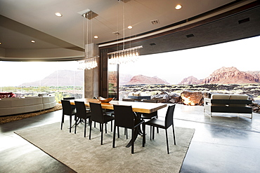 Spacious interior of modern living room, USA, Utah, St. George