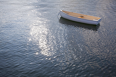 Rhode Island, Lonely rowing boat on water