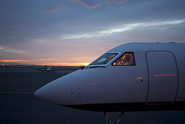 Pilots in private aeroplane