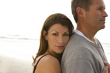 A couple at the beach
