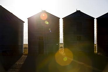 Grain silos, Colorado, USA
