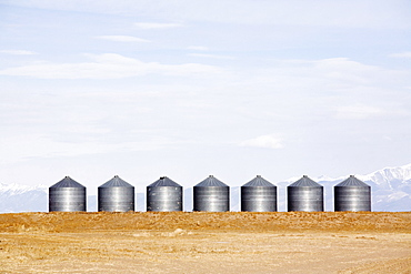 Grain bins, Colorado, USA