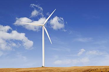 USA, Iowa, Latimer, Wind turbine