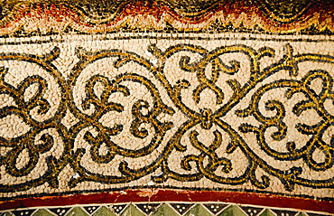 Turkey, Istanbul, Chora Church mosaic pattern detail