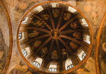 Turkey, Istanbul, Chora Church dome detail (interior)