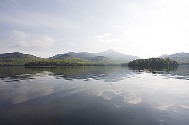 USA, New York State, Adirondack Mountains, Lake Placid
