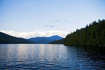 USA, New York State, View on Lake Placid