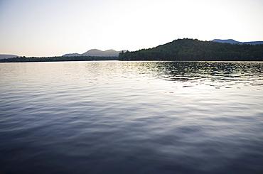 USA, New York State, Idyllic landscape with lake