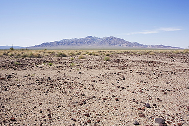 Desert landscape with Funeral Mountain