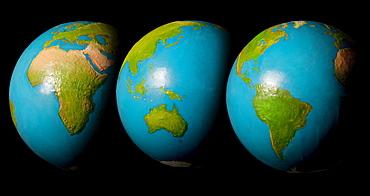 Three globes