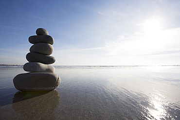 Stack of rocks on the beach