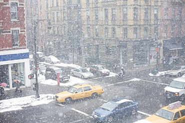 Snowstorm in New York City