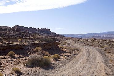 Dirt road in Arizona desert