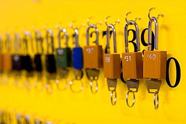 Row of locks
