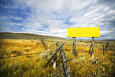 Field and fence, Steamboat Springs, Colorado, USA
